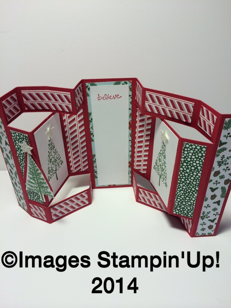 Fancy Fold Christmas Card - Jeannie Hall Stamps!